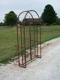 wrought iron 6 arbor gate combo vintage garden arch