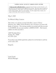 Landlord Verification Letter Sample Bank Account Verification Letter Bank Account Verification Letter 18