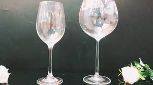 Wholesale Hand Made Trendy Goblets Glassware Hand Painted Nice Wine Glasses  With Designs