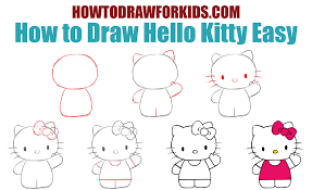 How To Draw Hello Kitty Easy How To Draw For Kids