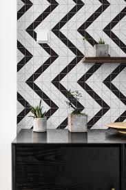 4 Railroad Pattern Black White Matte Porcelain Geometric Tile ANT