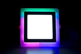 Rgb Led Panel Light 16w 12 4 Led Side Rgb Red Green Blue Square Ceiling Pop