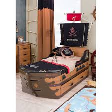Pirate Bedroom Furniture Cilek Black Pirate Captain Bed With Trundle Wayfair