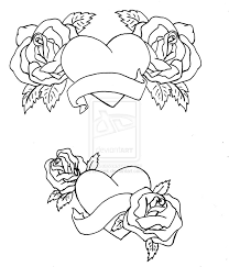736x861 7 images of drawing hearts and roses coloring pages