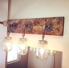 handmade lighting fixtures. Handmade Light Fixtures Industrial Modern Rustic Wood 3 Mason Jars Fixture Pipe Chain . Lighting S