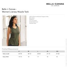 Bella Canvas Muscle Tank Size Chart Muscle Mama Womens Muscle Tank Top Sizing Chart Specs