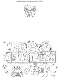 Happy Birthday Color Page Happy Birthday Aunt Coloring Pages Happy