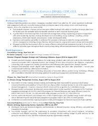 Sample Resume Energy Consultant Augustais