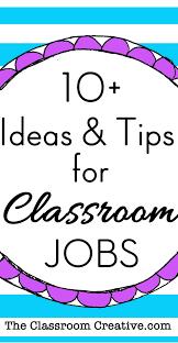 4th Grade Classroom Job Chart Classroom Jobs Chart Tips Ideas