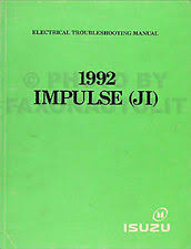 isuzu impulse manuals literature 1992 isuzu impulse electrical troubleshooting manual 92