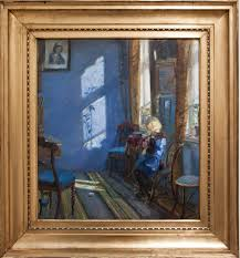 file sunlight in the blue room by anna ancher with frame jpg