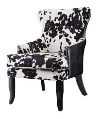 Furniture Wonderful Leopard Print Chair And Ottoman Real Cowhide