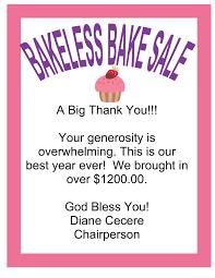 Bakeless Bake Sale 001 Weeki Wachee Eagles