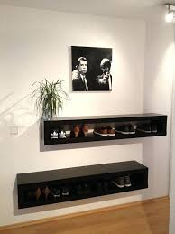 ikea tv wall mount wall mount shelves 2 pieces black stained wooden shelf for shoe shelves