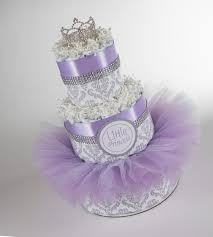 Lavender Baby Shower Decorations Diaper Cake Little Princess Baby Gift Princess Baby Baby