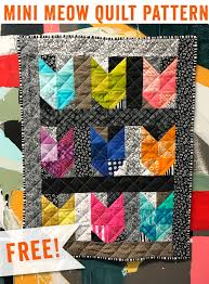 Mini Meow Quilt Pattern – Happy Hour Stitches & Show off your love for felines with a simple kitty quilt block! Whether  you're looking for a fast gift or really want to proclaim your love of cats  in a ... Adamdwight.com