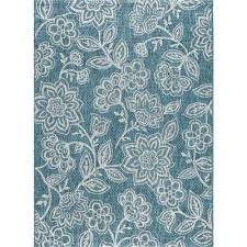 veranda aqua 8 ft x 10 ft indoor outdoor area rug