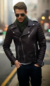 the versatility of a black leather biker jacket and navy jeans makes them investment worthy