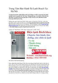 Trung Tâm Bảo Hành Tủ Lạnh Bosch Tại Hà Nội 0941 559 995 by Dịch Vụ Bách  KHoa - issuu