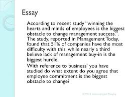"managing change implementing and managing change ""faced  12 essay according"