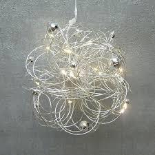 Formano Kugel Fensterdeko Led Silber Draht Edel Modern