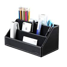 Cool stationery items home Common Kingfom Home Office Wooden Struction Leather Multifunction Desk Stationery Organizer Storage Box Pen Amazoncom Amazoncom Kingfom Home Office Wooden Struction Leather Multi