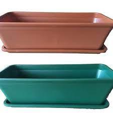 2x flower pots plastic garden pot
