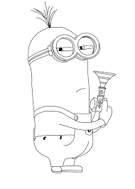 Despicable Me Coloring Pages For Kids Free Printable Minion