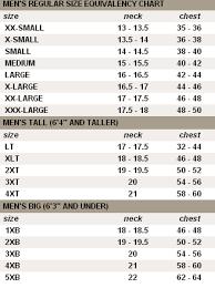 Cutter Buck Mens Size Chart