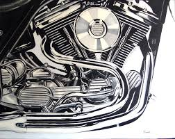 yessy john pacovsky still life harley davidson engine