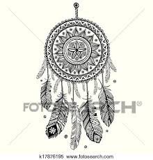 Native Dream Catchers Drawings Interesting Clipart Of Ethnic American Indian Dream Catcher K32 Search