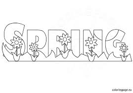Small Picture Spring coloring page