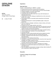 Associate Buyer Resume Sample