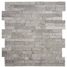 jeffrey court fortress splitface 12 5 in x 12 5 in x 8 mm marble mosaic wall tile 99648 the home depot