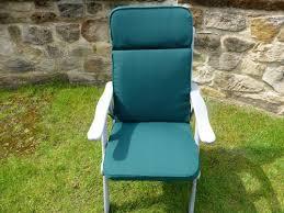 garden furniture cushions green recliner seat and back cushion 116x49x6