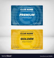 Member Card Templates Vector Image On Vectorstock