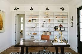 lighting for bookshelves. interesting for lighting for bookshelves home office farmhouse with leather desk chair wood  built in shelves intended for bookshelves