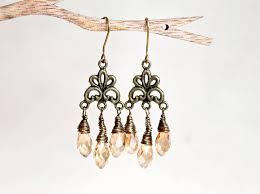 beautiful champagne chandelier earrings