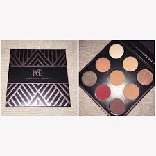 so let s get into manny s palette it has 9 shades 3 which are permanent makeup geek shades and 1 pressed pigment that is a permanent item in a loose form