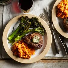 romantic steak dinner for two. Brilliant Steak Filet Mignon For Two With Sweet Potato Mash In Romantic Steak Dinner For