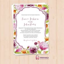 free pdf wedding invitation template with editable texts vintage Editable Pdf Wedding Invitations free pdf download watercolor wedding flowers invitation template easy to edit and print at downloadable editable wedding invitations