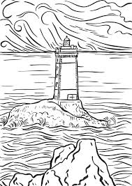 Small Picture Realistic Lighthouse Coloring Pages Virtrencom