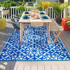 san juan outdoor rug in dark blue  outdoor rugs  cuckooland
