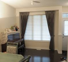 living room panel curtains. living room - side panel curtains with twin combi blinds