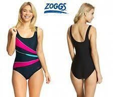 Zoggs Womens Swimsuit Size 18 Scoop Back Shapewear Swimming Costume Swim