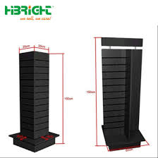 Hs Code For Display Stand China Four Sides MDF Slatwall Wooden Rotating Display Stand 70