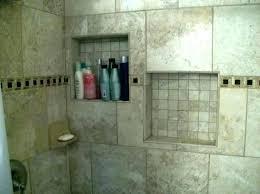 shower wall tile adhesive installing ceramic on walls in bathroom shelves engaging corner shelf designs lining
