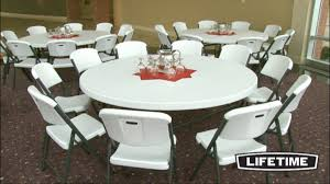 chic 72 round folding table lifetime 2673 72 white granite with inch inspirations 4
