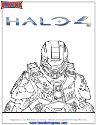 halo 4 master chief coloring page
