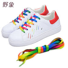 Φ_Φlow price 1 pair Rainbow Multi-Colors <b>shoelace</b> Flat Sports ...